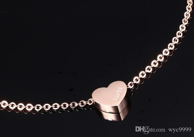 pés Han Guofeng ornamentos, em forma de coração tornozeleiras, presentes de Dia dos Namorados