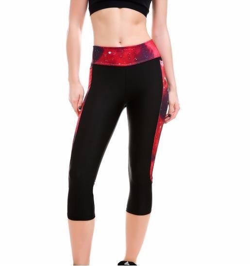 Women Yoga Pants Sports Capris Elastic Exercise Tights Female Gym Fitness Trousers Slim Leggings for Running Plus Size S-XXXXL