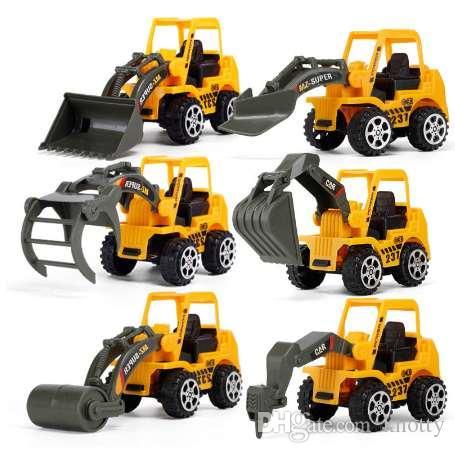 HBB 1PC детская игрушка мини-Инженерный автомобиль автомобиль грузовик экскаватор модель игрушки мальчик подарки детские развивающие игрушки (стиль случайно)