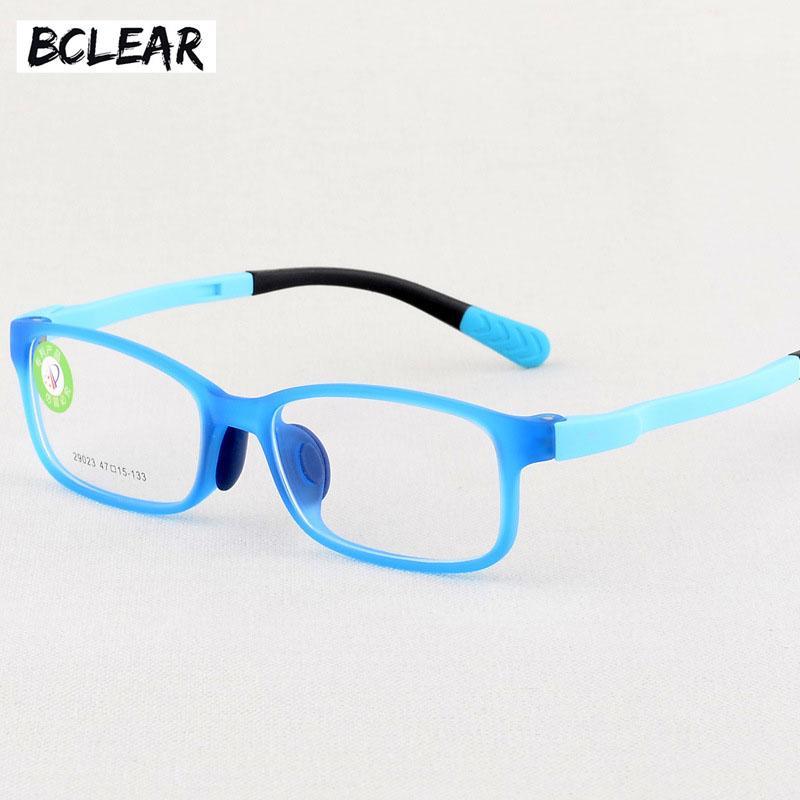 BCLEAR Moda Nuevo Color de Dibujos Animados de Silicona Óptica TR Gafas de Niños Marco ultraligero niños Óptico Espectáculo Marcos Niño
