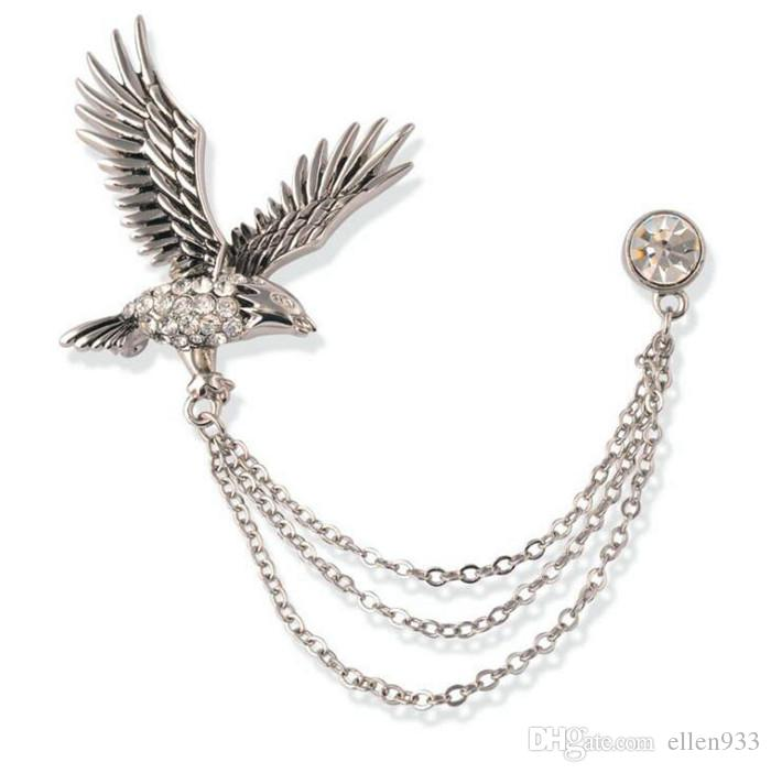 hot sale free shipping Eagle shape charm quality 5 pcs/set Flower Breastpin wholesale