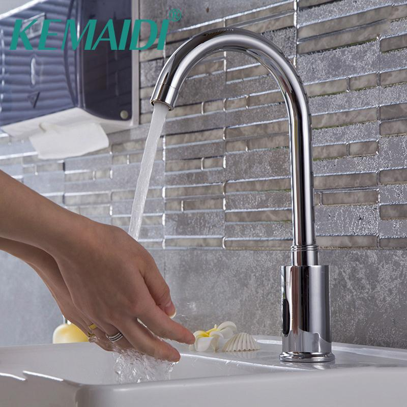 2019 KEMAIDI Kitchen Faucets Bathroom Automatic Hands Touch Free Sensor  Chrome Brass Sink Tap Deck Mounted Auto Sensor Mixer From Baolv, $110.15 |  ...