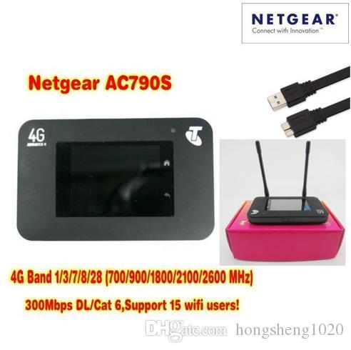 Desbloqueado CAT6 300Mbps Netger 790S AC790S AirCard 4G LTE MiFi Router Dongle 4G LTE Pocket Wifi Router