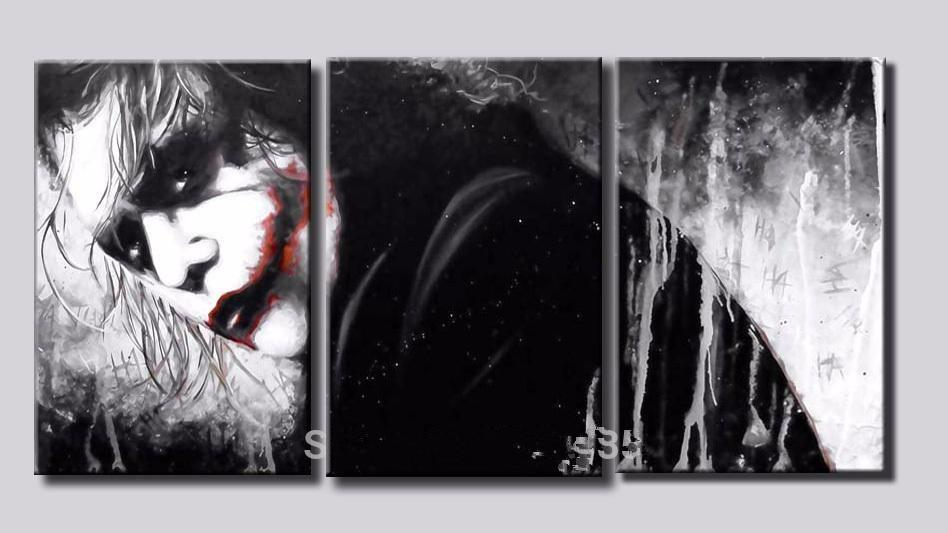 3 шт. плакат без рамы Галерея wrap art печать home wall decor wall picture холст герои мультфильмов Джокер в Бэтмене