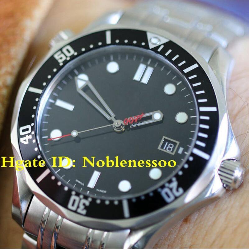 3 نمط أعلى جودة ساعة اليد الفاخرة الرجال المشارك محوري 300M 212.30.41.20.01.001 المحدودة ووتش لجيمس بوند 007 التلقائية الرجال ووتش الساعات