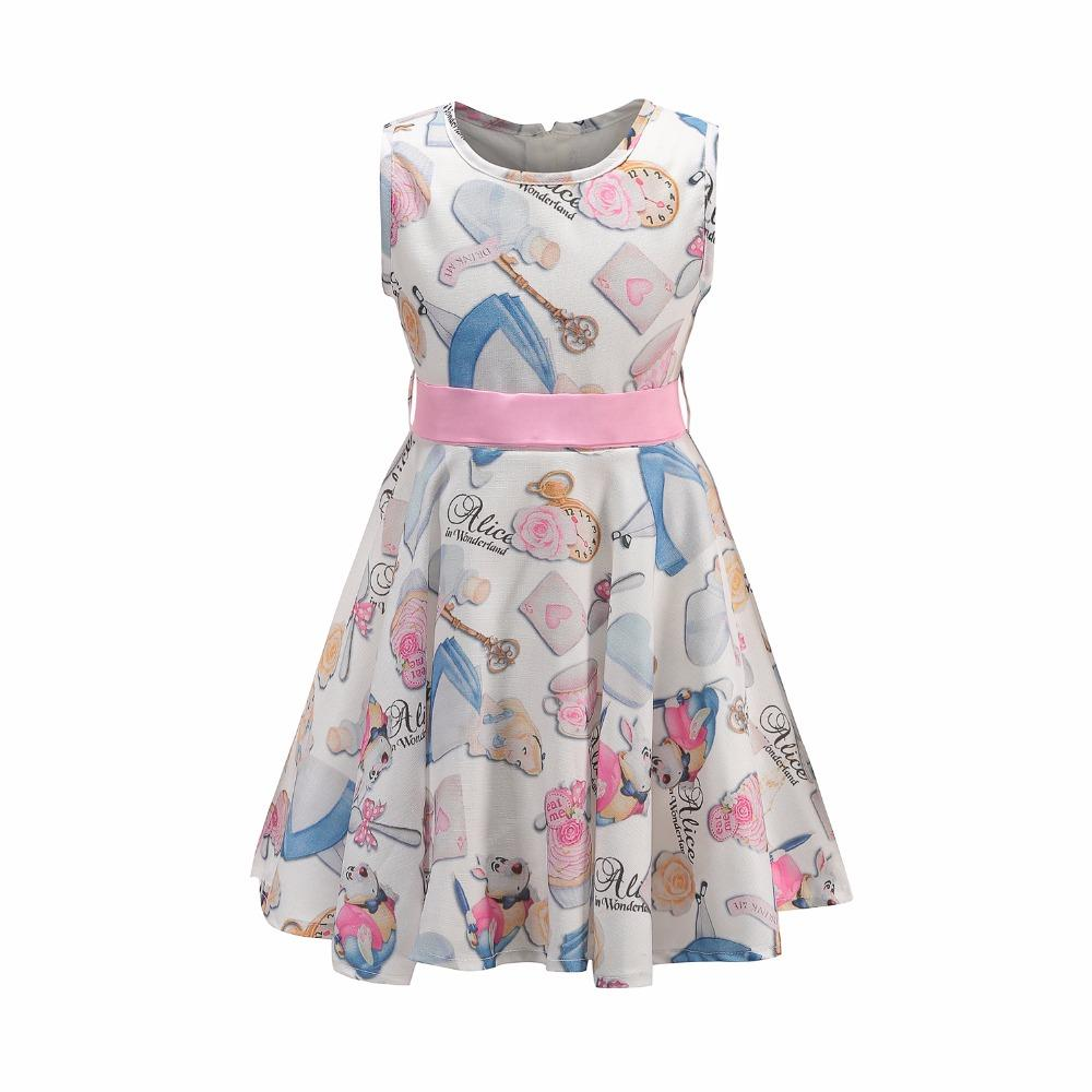 Compre Vestido De Flores Brwcf Para Niñas Impresiones De Blanco Como ...