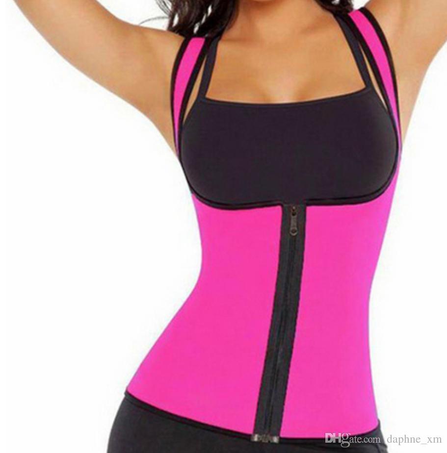 Waist Cinchers Women Sweat Enhancing Waist Training Corset Waist Trainer Sauna Suit Hot Shaper Sport Vest 4 colors Size S-3XL.
