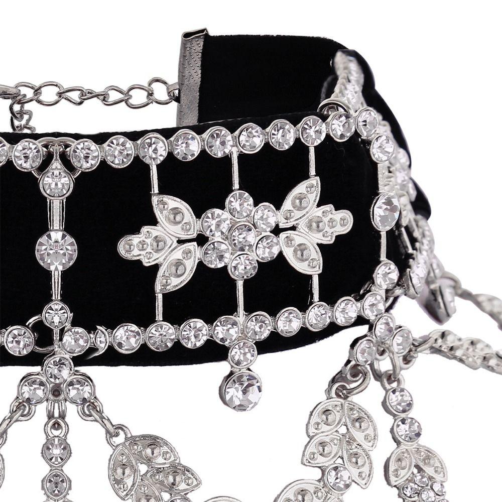 Зашнуровать Роскошный Себе Ожерелье 2017 Большой Горный Хрусталь Колье макси кристалл ожерелье Лента Колье Femme Ювелирные Изделия Ожерелья