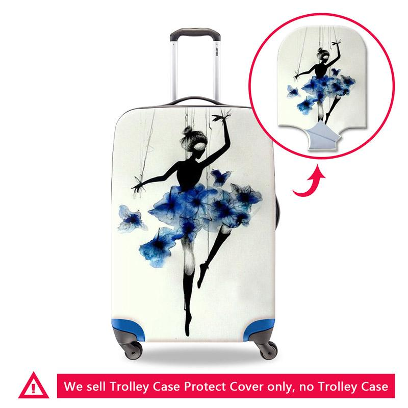 Artistic Suitcase Dust Covers for Duffle Ballet Dancing Girls Suitcase Protective anti-scratch Luggage Cover Spandex for American Tourister