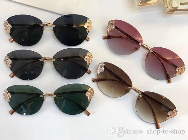 Lunettes de soleil de luxe diamant baroque nouvelle arrivée VER Marque lunettes de soleil anti-UV 2196 vente chaude de haute qualité