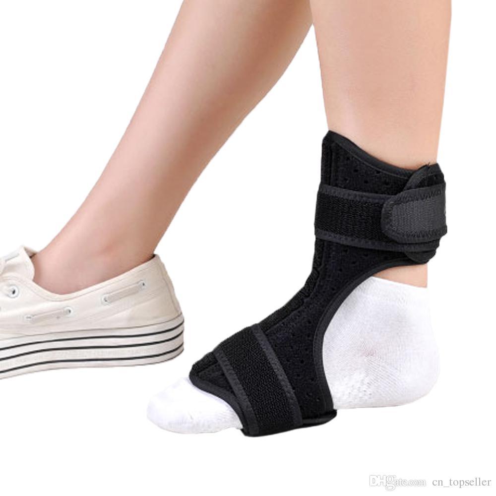 دعم الكاحل قابل للتعديل قطرة القدم درع القدم قطرة تقويم العظام مصحح الإلتواء الكاحل (حجم الحرة)
