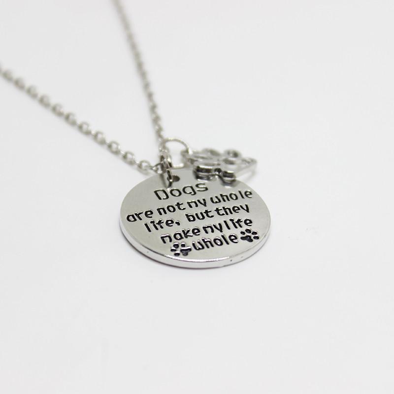 12 шт./лот собаки не вся моя жизнь, но...моя жизнь вся собака лапы следы очарование ожерелье кулон ожерелье женщины ювелирные изделия подарок