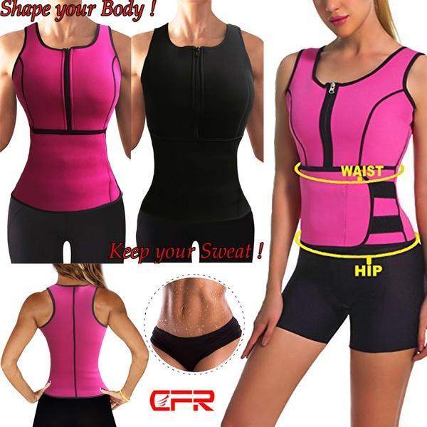 UK Hot Sweat Sauna Body Shaper Women Slimming Vest Thermo Neoprene Waist Trainer