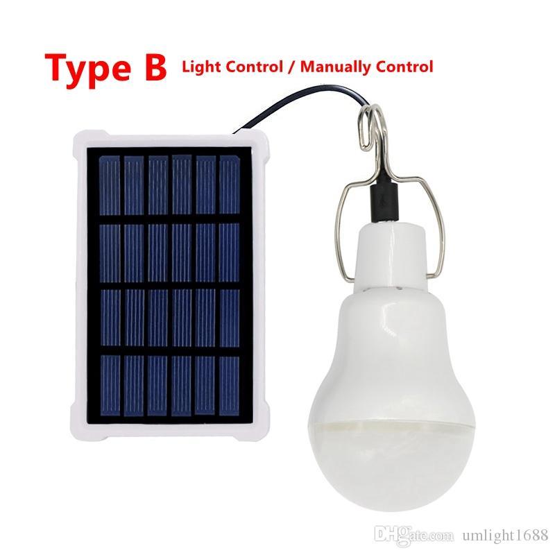 ULLIGHT1688 2 2 Typ 5V 20Weiche Solar Power LED Birnenlampe Solarpanel Anwendbar Außenbeleuchtung Lager Zelt Angelampe, Gartenlicht