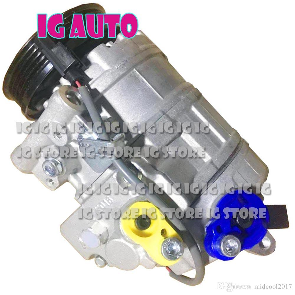 Car Auto Air A/C AC Compressor With Clutch For Car BMW E60 4 Rrooves Air  Conditioning Compressor Best Air Compressors Best Cheap Air Compressor From