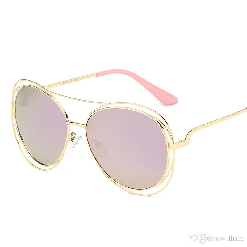 Brown Classic Womens Shipping-High Pilot Gafas de sol Diseñador CA Marca Calidad Gafas de sol Lentes Hombre Oro Metal Gold Vidrio Tom Eyewear HHKT