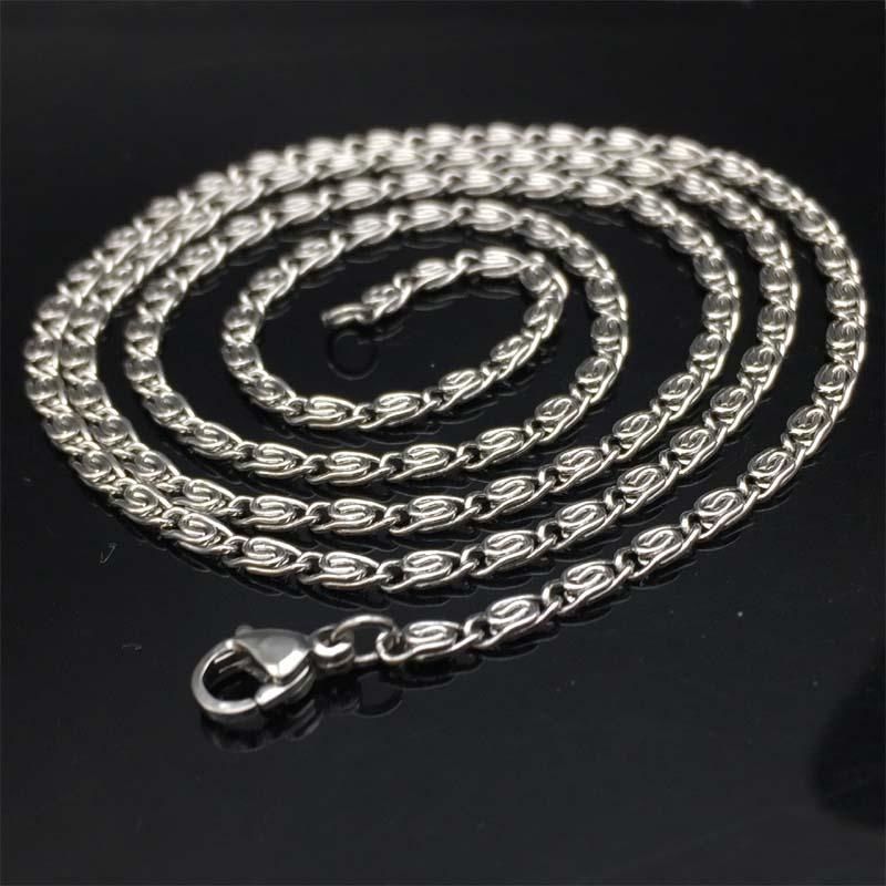 2.5MM Men Necklace Stainless Steel Jewelry High Quanlity Braided Link Chain Necklace Women punk rock biker gifts 2017