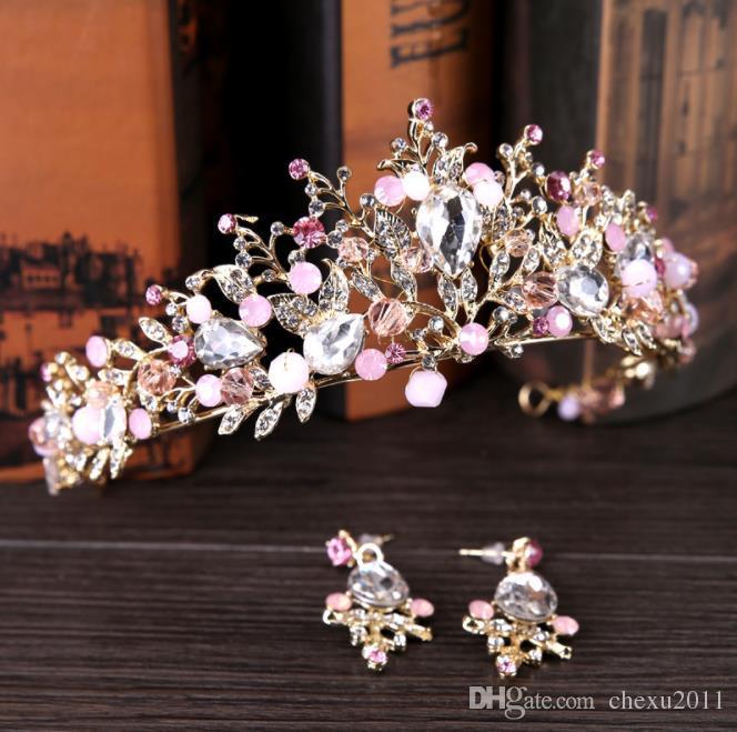 2018 nova noivas coroa ornamento Crystal Crown aro, versão coreana do bridal cabelo, coroa aniversário, ornamentos nupciais.