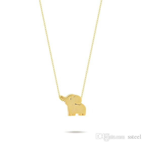10pcs Cute Tiny Baby Elephant pendant Necklace Small Lucky Elephant Necklaces Lovely Cartoon Animal Necklaces for Birthday Gifts jewelry