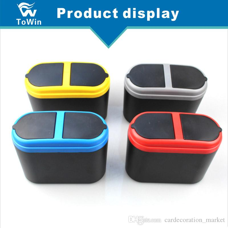 Black Mini Car Auto Trash Can,Multifunction Garbage Litter Wast Can Storage Box Coin Holder for Car//Office// Home