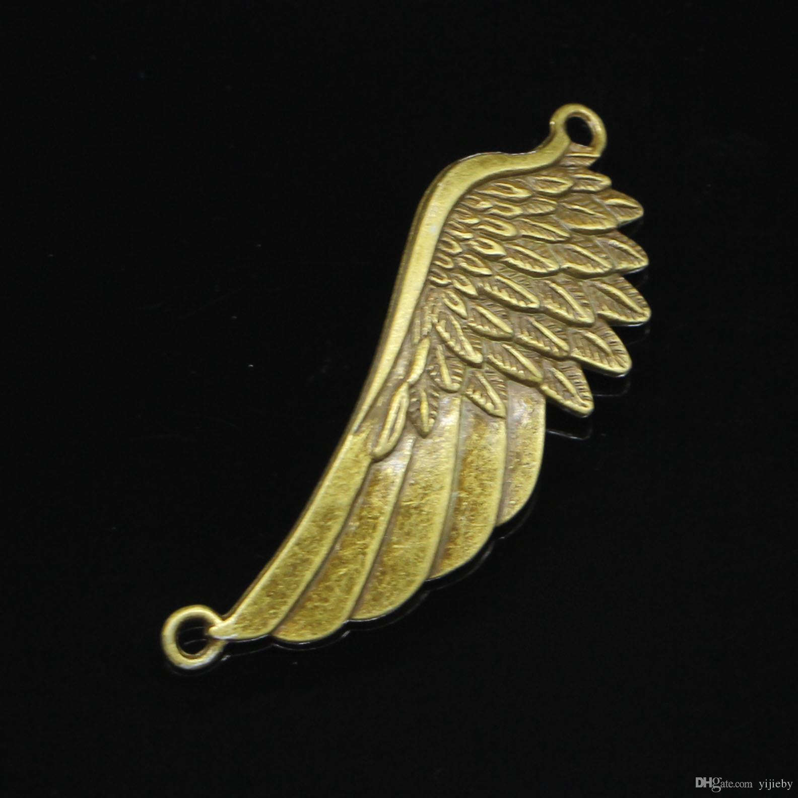 15pcs Antique Bronze Plated angel wings Charms Pendant fit Bracelet Necklace Jewelry DIY Making Accessories 60*22mm