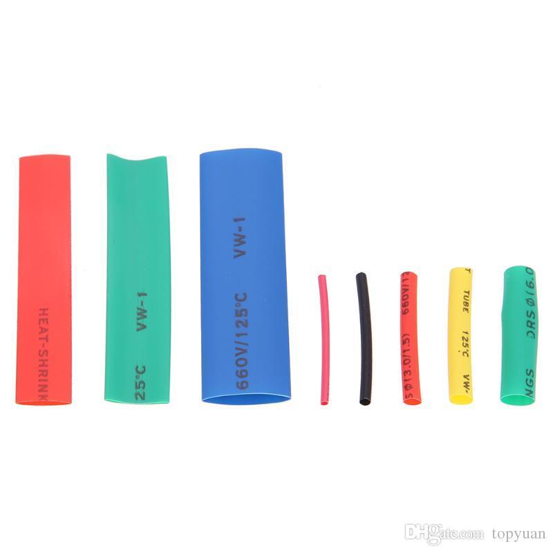 328 unids aislamiento surtidos 2:1 Kit manga envoltura de tubería termoencogible