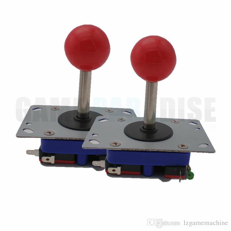 2 PCS ZIPPY Joystick con albero corto da 2,3 cm a 4 o 8 vie parti della macchina arcade joystick multi sfera superiore disponibile