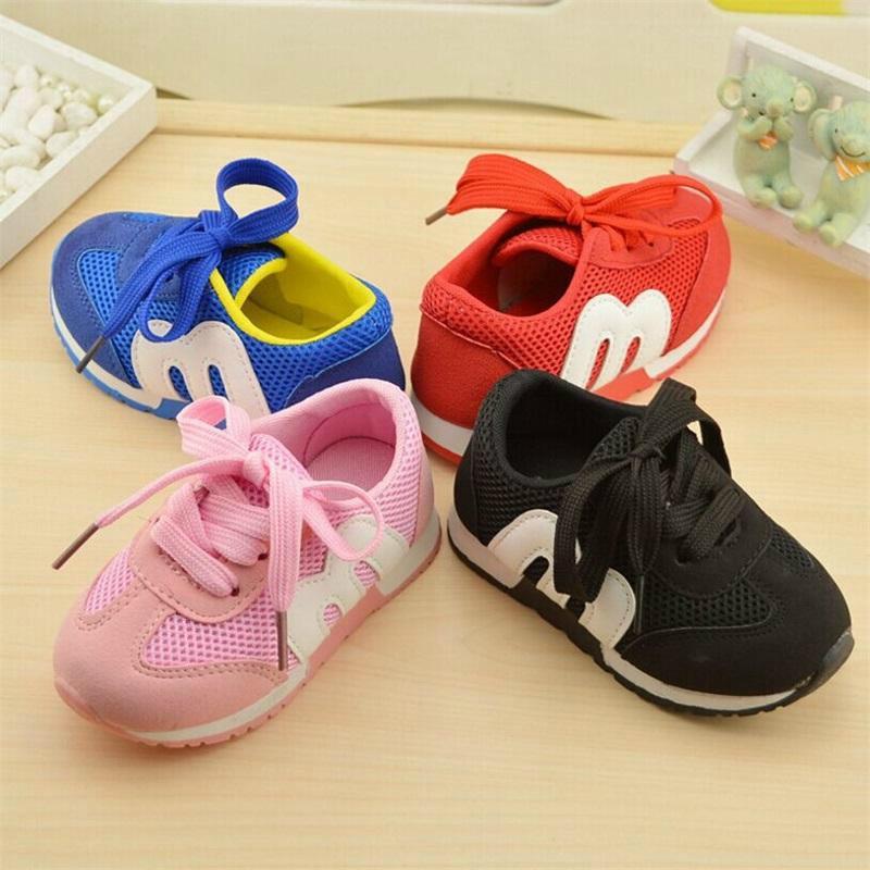 Novo Outono Crianças Sapatos Meninas E Meninos Esporte Antiderrapante Fundo Macio Crianças Sapatos Confortáveis Sapatos Da Criança Do Bebê Sneakers