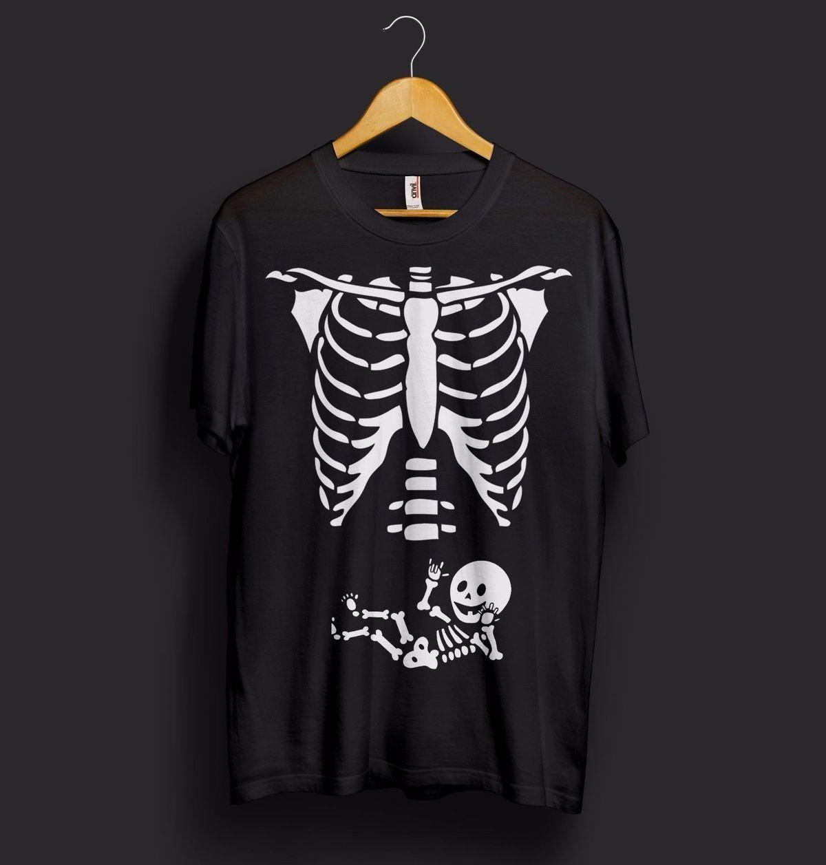 Pregnant Skeleton Womens Girls Short Sleeve Cotton Top Fancy Funny T Shirt Lot