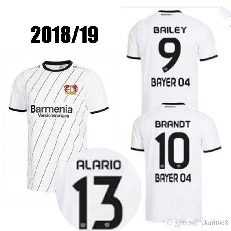 Acquista Nuovo 18 19 Bayer 04 Leverkusen Maglia Da Calcio Casa 2018 2019 Leon Bailey Julian Brandt Lucas Alario Kevin Volland Via Le Maglie Da Calcio ...