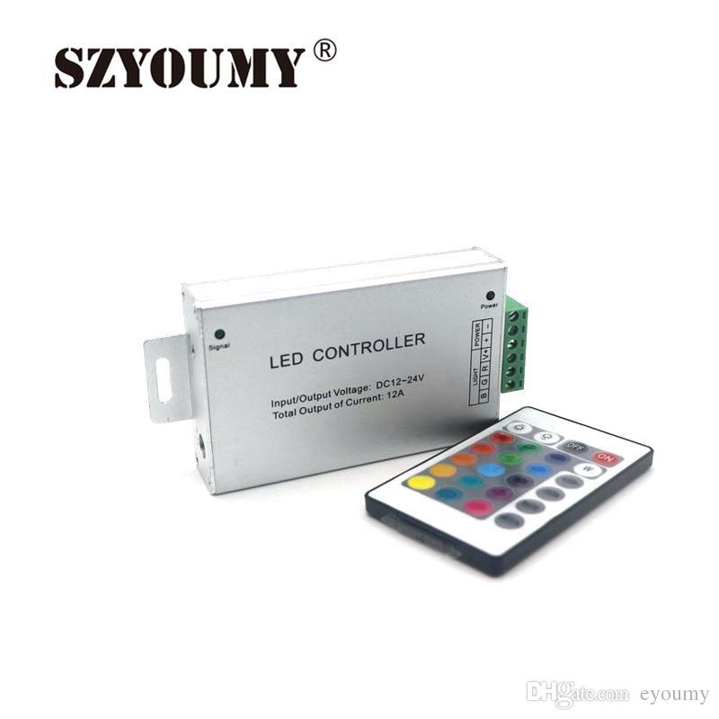 Eyoumy SZYOUMY 24 Key Wireless RF LED RGB Диммер Пульт дистанционного управления для RGB светодиодных лент / модульных светильников DC 12V-24V 12A
