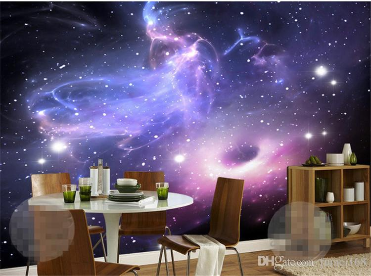 Custom 3d Stereoscopic Universe Stars Galaxy Ceiling Mural Wall Painting Ktv Living Room Bedroom Background Wallpaper Murals 3d Pc Wallpaper In Hd Pc