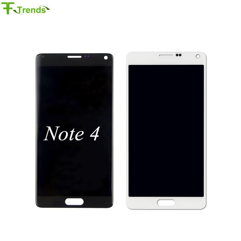 Alta qualità TFTO originale per Samsung Galaxy Note 4 Display LCD Touch Screen Digitizer Assembly N910 N910T N910P N910R4 N910V Bianco Nero