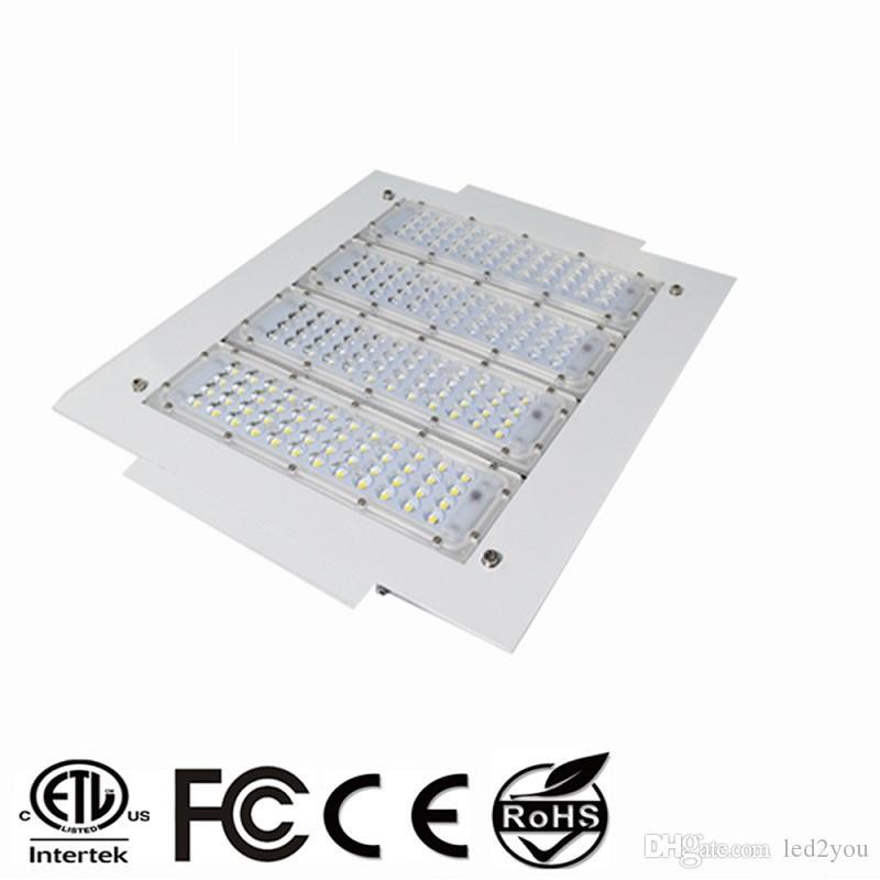150 Вт светодиодные прожекторы 200 Вт навес Свет 100 Вт 120 Вт высокий свет залива утопленный монтируется для АЗС свет переменного тока 85-277 в