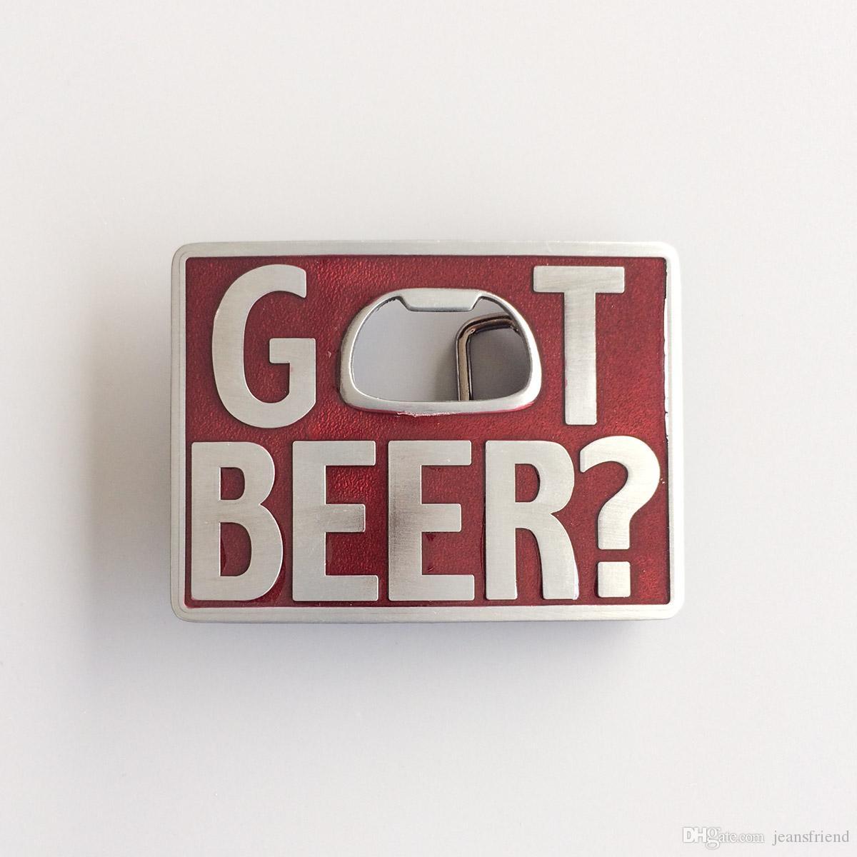 New Vintage Classic Rosso Smalto Got Beer Bottle Opener Rettangolo fibbia della cintura Gurtelschnalle