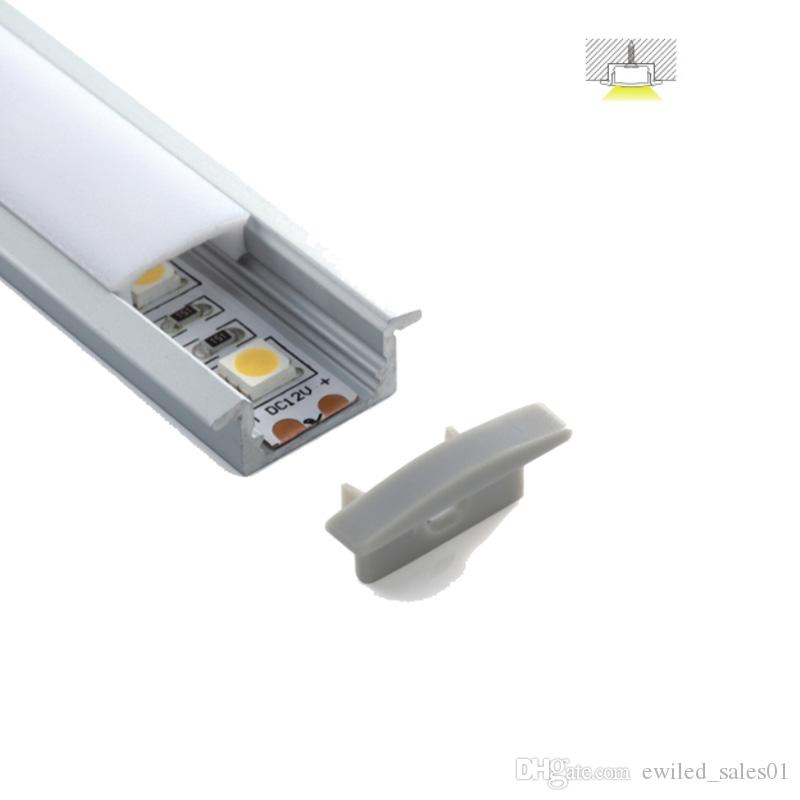 50 X 2M sets/lot linear flange led profile T style led aluminum housing for embedded ceiling lighting