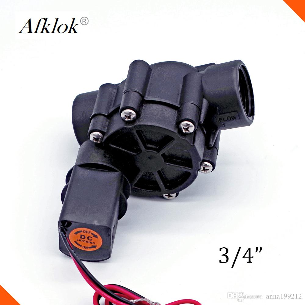 AFK Brand Nylon Material water farm irrigation Nylon pulse 12VDC solenoid latch valve 3/4 BSP Connect