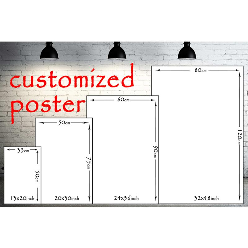 "Silk Fabric Poster Customized 13x20/"" 24x36/"" 32x48"" Custom Your Photo"