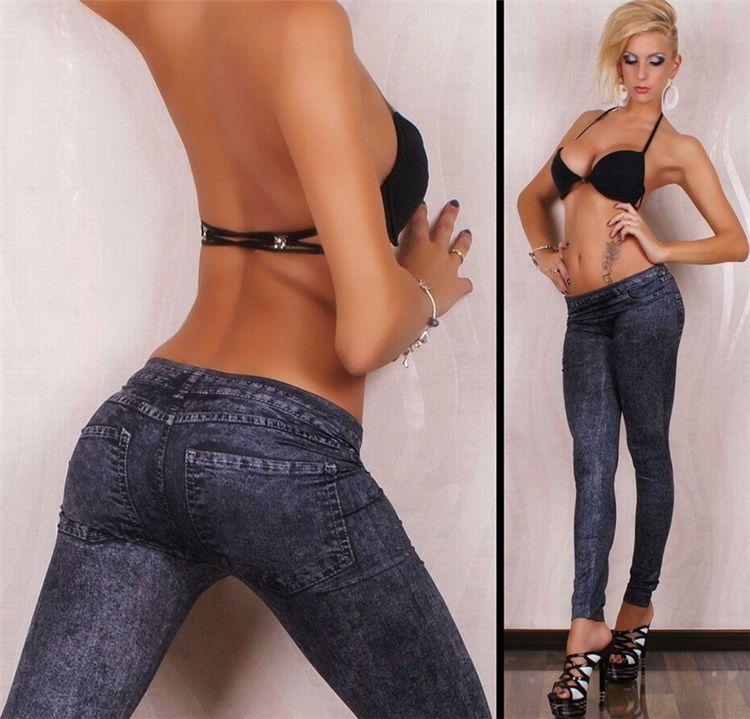 Jeans a vita alta per donna Casual elasticizzato Jeans a matita femminile Lady Vintage denim pantaloni slim skinny elastico pantaloni 2018 primavera YWOM8184