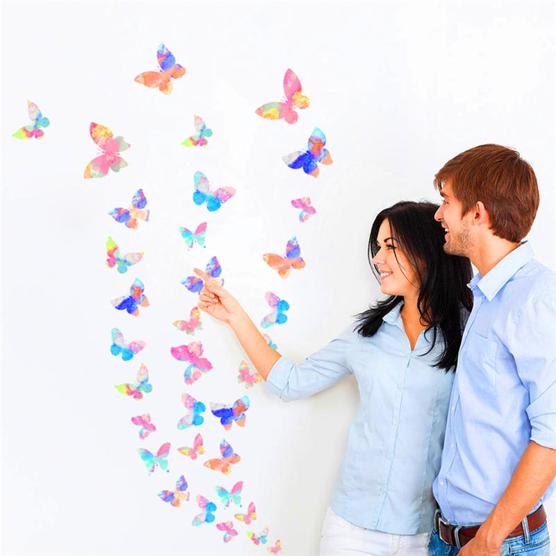 colorful butterfly wall stickers for living room kids children room girl bedroom nursery party wall art decor diy pvc decals