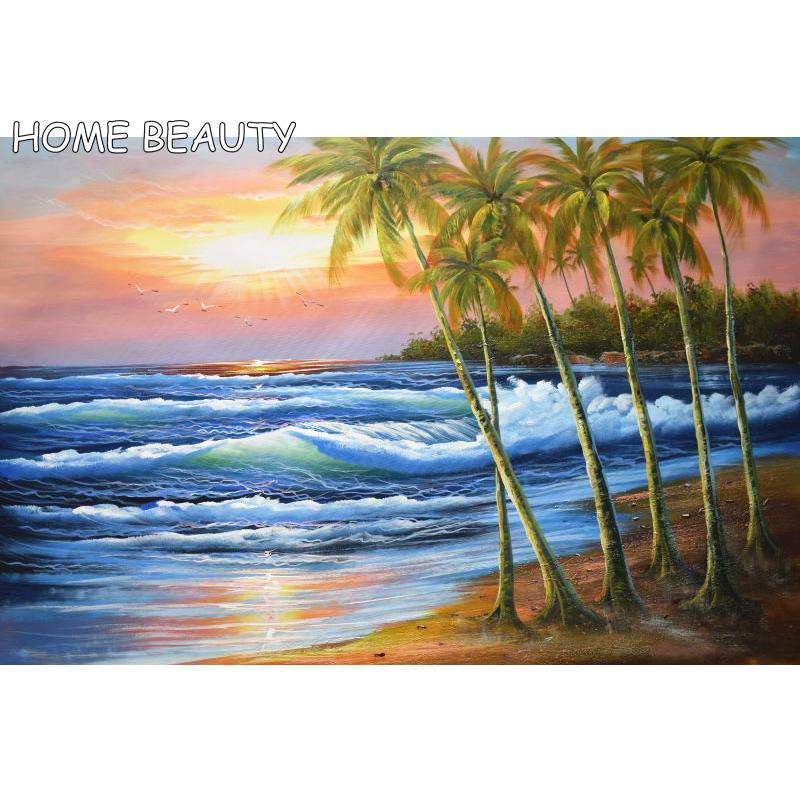 Toptan elmas boyama deniz manzarası sunset rhinestones resim 5d tam reçine oya duvar dekor çapraz dikiş diamonds mozaik AS182