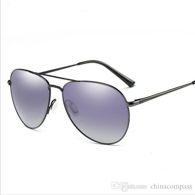 Ücretsiz kargo Yeni Moda Pilot Polarize Güneş Gözlüğü Plaj flaş Gözlük Metal güneş gözlükleri Sürüş balıkçılık erkekler Kadınlar için A310