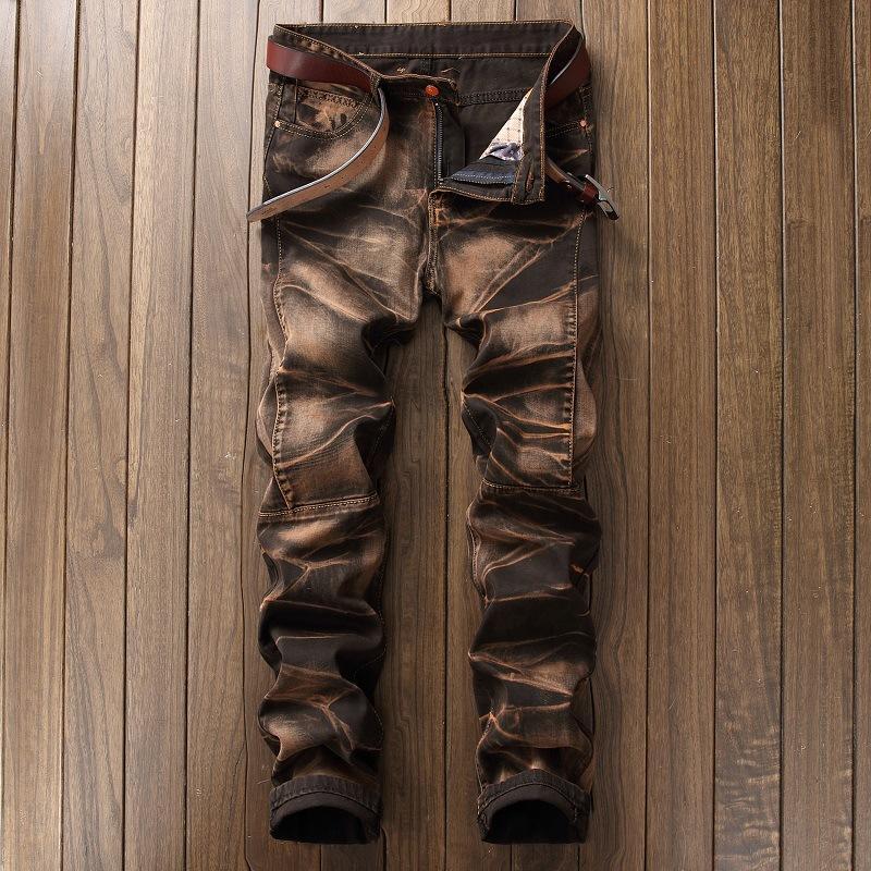 I nuovi 2018 uomini moda Vintage Denim Jeans classici dei jeans slim pantaloni da uomo designer di abbigliamento Plus Size 42