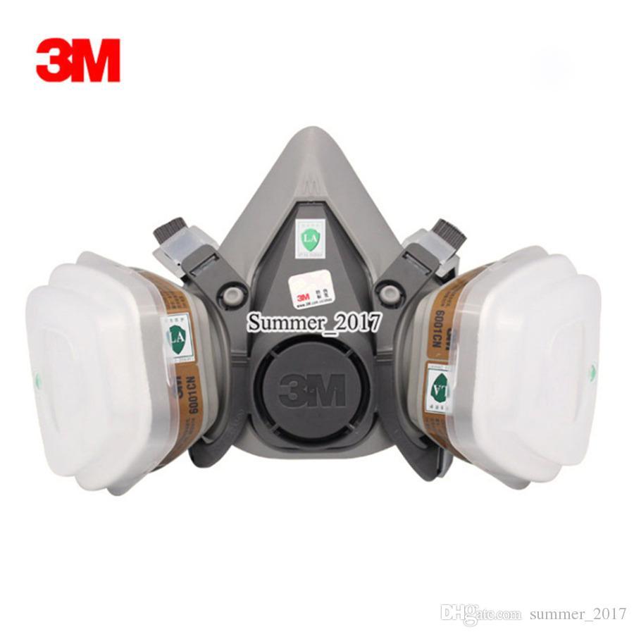 7 En 1 traje 6200 respirador máscara de Gas cuerpo químico máscaras polvo filtro pintura polvo aerosol químico máscara de Gas media cara máscara