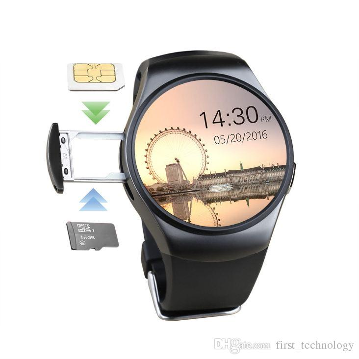 Newly Original KW18 Full Round IPS Heart Rate Smart Watch MTK2502 BT4.0 Smartwatch for ios and Android Samsung Intelligent Watch