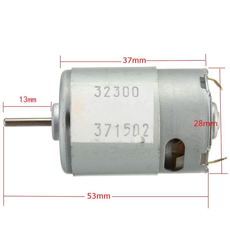 جديدة عالية الجودة DC3-12V عالية عزم دوران المحرك السوبر عالية السرعة المحرك تصنيف الجهد 9V 20W 380 المحرك
