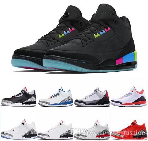 Quai 54 JTH NRG Bio Bej Katrina Tinker basketbol ayakkabıları III siyah beyaz çimento gerçek mavi Spor sneakers ÜCRETSIZ THROW LINE Erkek ayakkabı