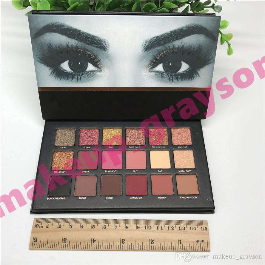 1 pcs ePacket Shipping Rose Gold Textured Palette Makeup Eye shadow 18 colors Eyeshadow Palette Beauty Palette Matte Shimmer top quality