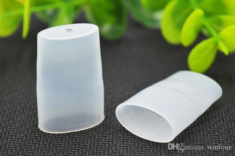 Desechable Silicon Flat Drip Tips Vape Test 510 Boquilla Boquilla para cigarrillos electrónicos Atomizador Tanque tapa de polvo de silicona