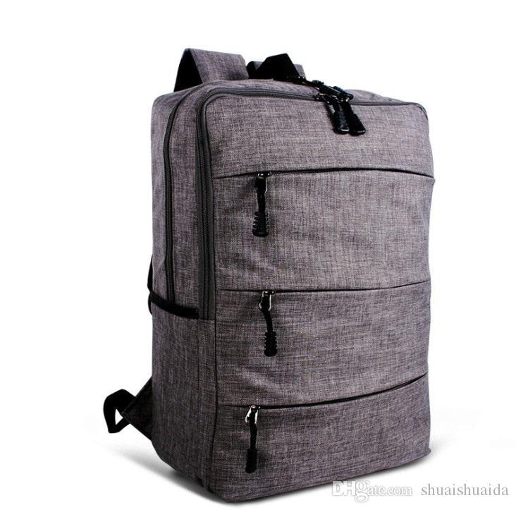2018 компьютер сумка Спорт на открытом воздухе путешествия Рюкзак школьный ранец рюкзак холст чистый цвет мужчины и женщины школьные сумки Сумка 20-35L A885